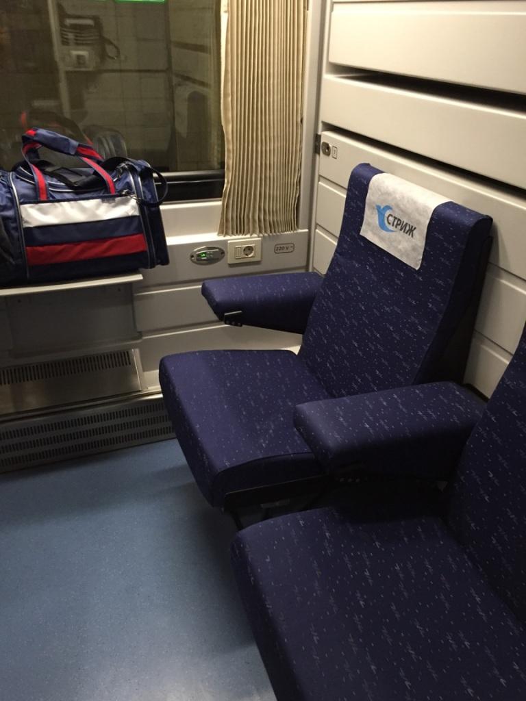 Accommodations on the train from Moscow to Nizhny Novgorod.